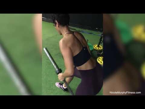 Single Arm Barbell Row | Nicole Murphy Fitness