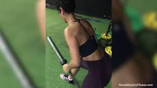 Single Arm Barbell Row   Nicole Murphy Fitness