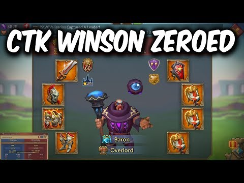 CTK Winson Burned & Zeroed By Sugar & KW Family - Lords Mobile