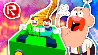 UNCLE GRANDPA'S ROLLERCOASTER! | Roblox thumbnail