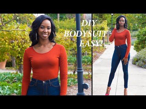 DIY Long Sleeve Bodysuit/Leotard (Easy) | Step by Step