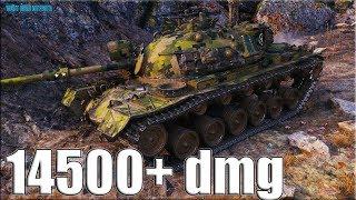 нАХЕРЯЧИЛ 14К УРОНА  M48A5 Patton World of Tanks