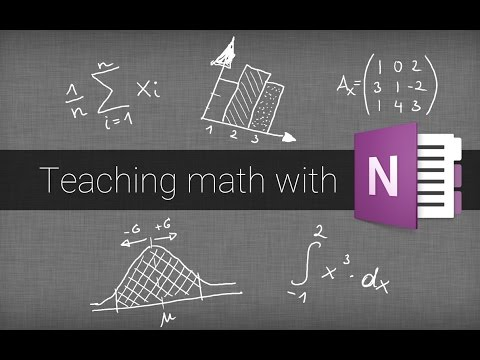 Teaching Math With Onenote