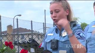 Minneapolis police officers remember burning car rescue