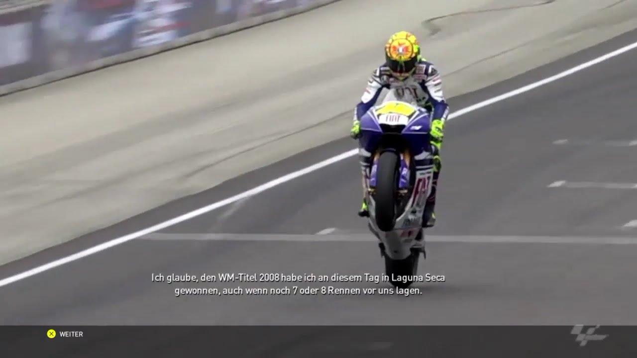 VR46 The Game] - | Historic Events #18 / Laguna Seca 2008 | - YouTube