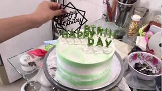 Cách làm bánh kem nến chữ Happy birthday