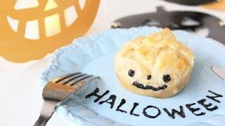 Jack-o'-lantern Pumpkin Pie / ジャックオーランタンのかぼちゃパイ