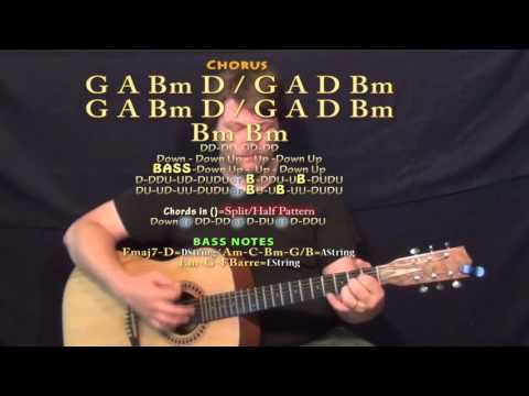 Firestone (Kygo) Guitar Lesson Chord Chart - Bm A G D Em