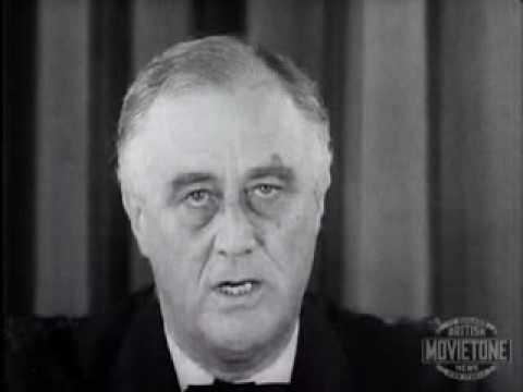 Franklin Delano Roosevelt speaks about the war 1939