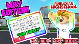 [MAY CODES] 🏡Robloxian Highschool All New Codes | Build Update Codes🤑 | Roblox