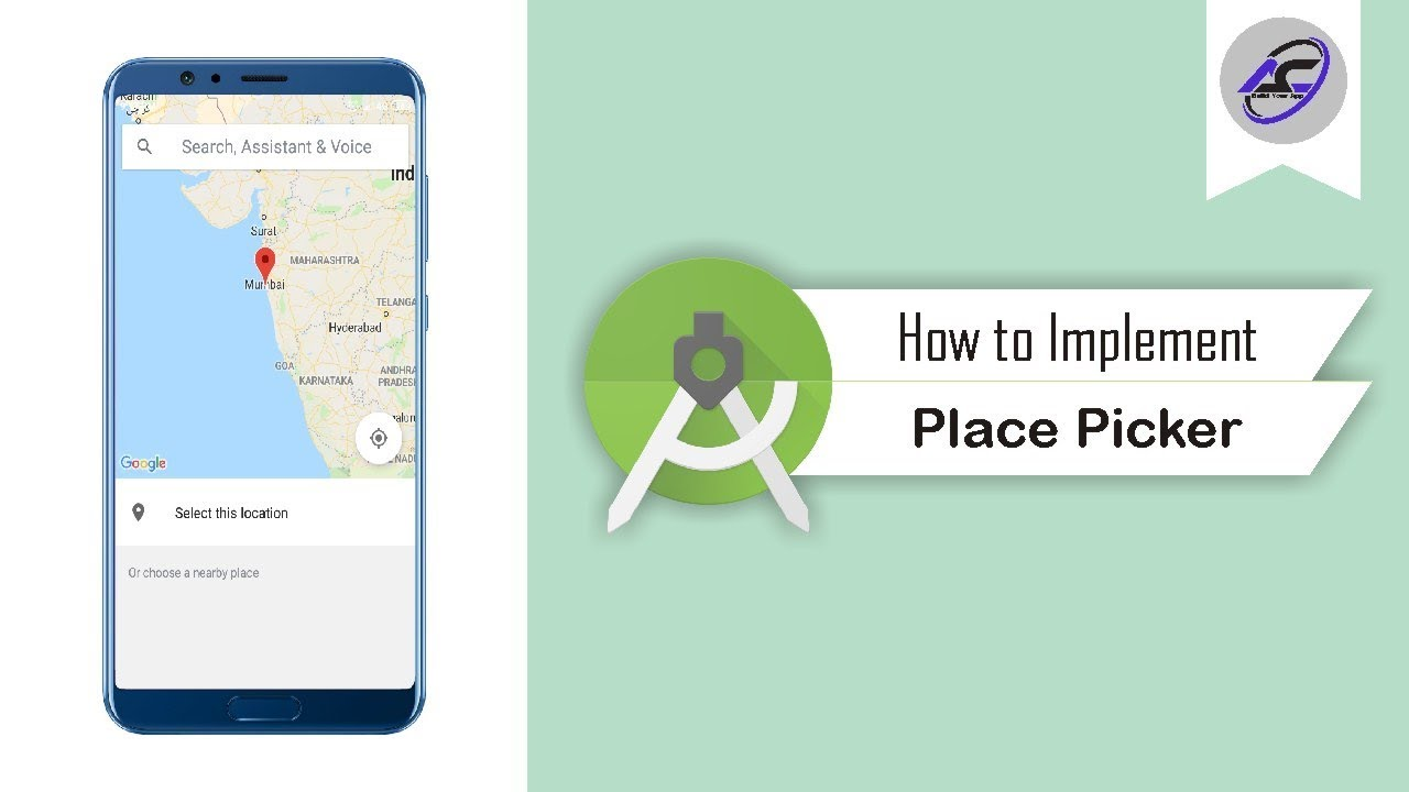 How to Implement Place Picker in Android Studio | PlacePicker | Android  Coding