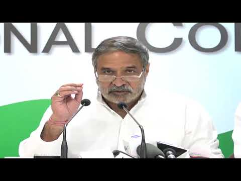 AICC Press Briefing By Anand Sharma at Congress HQ, October 9, 2017