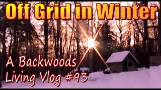 OFF GRID IN WIΝTER A Backwoods Living Vlog with Awesome Trail Cam Footage of a Fisher. Episode 93