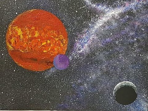 Fluid/Mixed Media Painting  'Deep Space'  Free Your Mind Art
