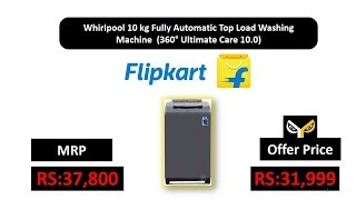 Whirlpool 10 kg Fully Automatic Top Load Washing Machine (360° Ultimate Care 10.0)