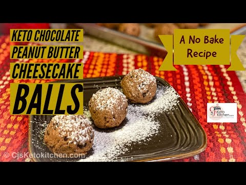 Chocolate Peanut Butter Cheesecake Balls - Keto And Low Carb #EasyKetodessert #lowcarbdessert