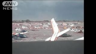 【地震】仙台空港を津波が襲う瞬間 緊迫の交信(11/04/28)