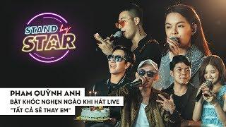 Phạm Quỳnh Anh bật khóc nghẹn ngào khi hát live Tất cả sẽ thay em