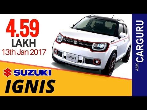 2017 Maruti Suzuki IGNIS, CARGURU, Price, Date, Video, NCAP & All Details in Hindi