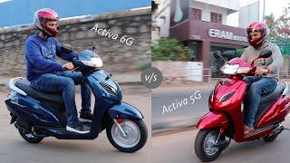 Honda Activa 6G v/s Honda Activa 5G detailed comparison!!