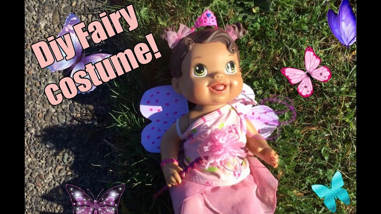 DIY FAIRY COSTUME! BABY ALIVE HALLOWEEN! FIRST SPEAKING VIDEO ...