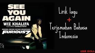 See you again lirik lagu + bahasa indonesia