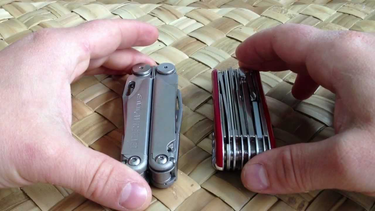 Fr Leatherman Wave Vs Victorinox Swisschamp Youtube
