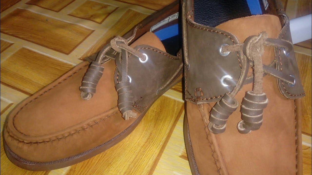 to tie your Topsiders - Barrel Lacing