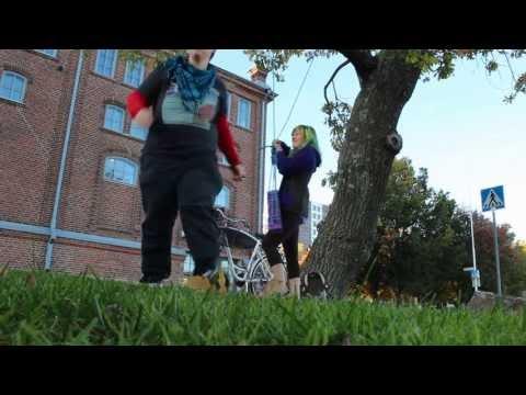 Purple Swing Project: Swing #5 - Turku, Finland - BE YOURSELF [street art]