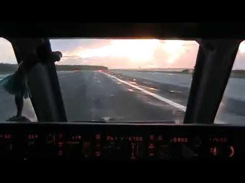 MD-80 approach  to Midway Island Atoll