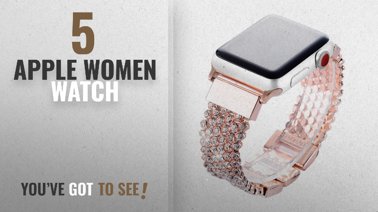 ead4fe477 Top 10 Apple Women Watch [2018]: Apple Watch Band 38mm Women Girls ...