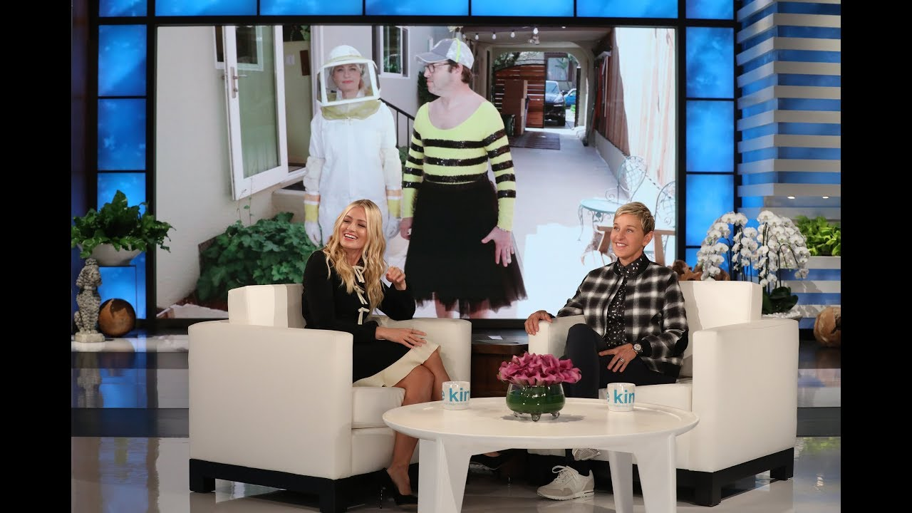 Beth Behrs Helps Pull Off the First Andy Scare of the Season!