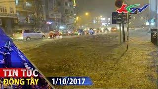 Mưa lớn, TP.Hồ Chí Minh ngập sâu trong biển nước | TIN TỨC ĐÔNG TÂY - 1/10/2017