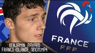 BENJAMIN PAVARD APRÈS FRANCE - ISLANDE (2 - 2) / Guingamp - 12 octobre 2018