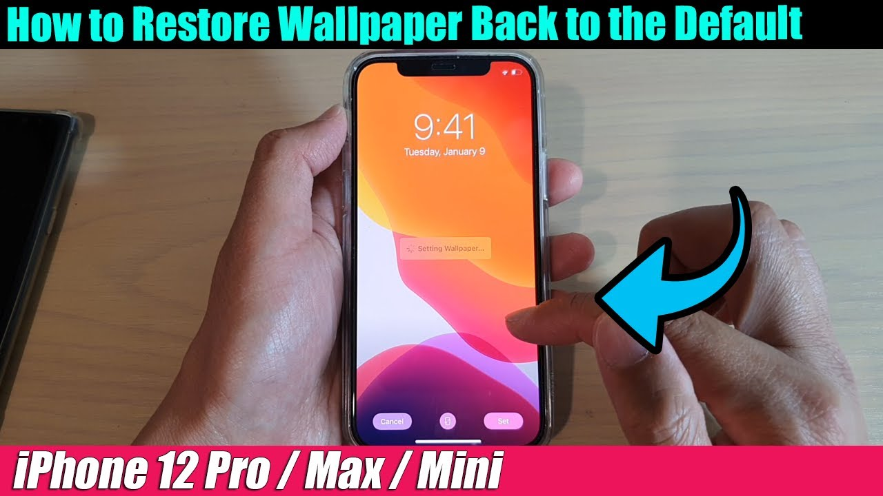 Iphone 12 12 Pro How To Restore Wallpaper Back To The Default Youtube