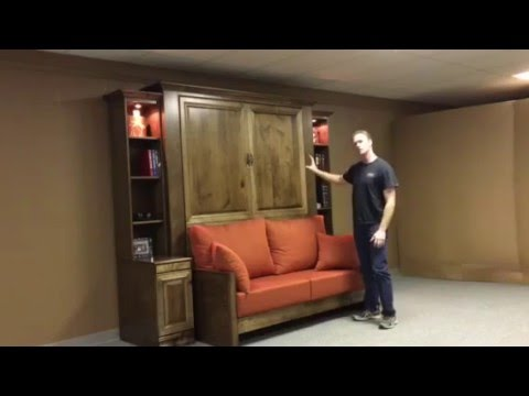 jordan murphy bed with sofa youtube. Black Bedroom Furniture Sets. Home Design Ideas