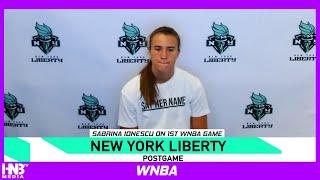 Sabrina Ionescu on 1st WNBA Game | Liberty vs Storm postgame 7.25.20