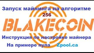 Blake-256(Blakecoin) - инструкция по запуску майнера на пуле Zpool.ca