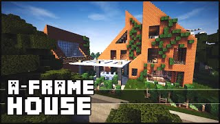 Minecaft - Epic A-frame House With Paintball Range!