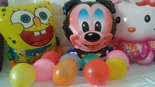 learn colors  english  spongebob  mickey mouse  balon color