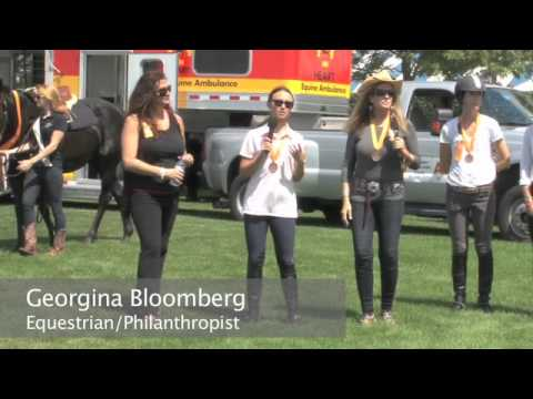 ASPCA and Georgina Bloomberg help rescue horses