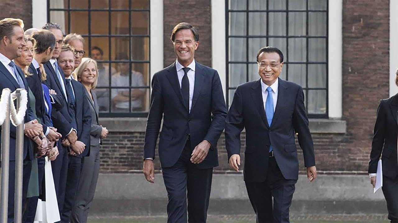dutch prime minister mark rutte welcomes chinese premier