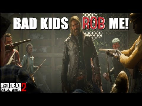 """THESE KIDS SAVAGES! ( FUNNY """"RED DEAD REDEMPTION 2"""" GAMEPLAY #19) thumbnail"""