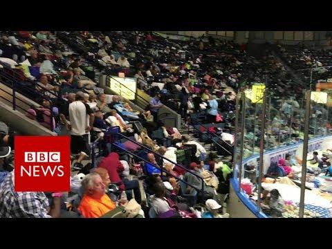 Hurricane Irma: Florida arena shelters thousands - BBC News