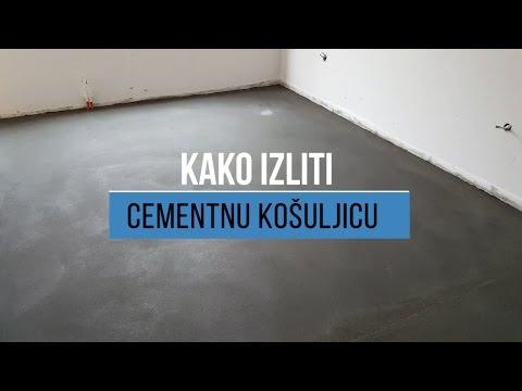 Kako izliti cementnu