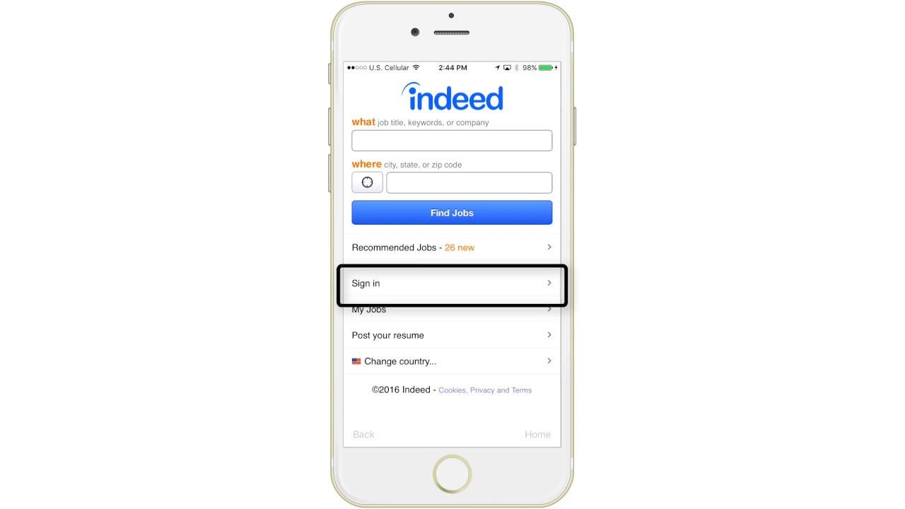 Indeed Jobs iPhone Demo - YouTube
