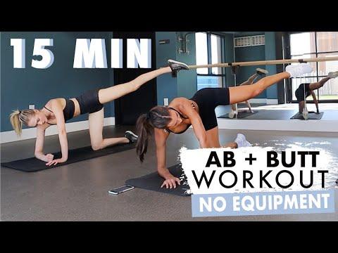 15 MIN AB + BUTT WORKOUT // NO EQUIPMENT // Sanne Vloet W/ Sami Clarke
