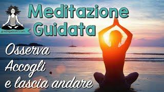 Meditazione Guidata - OSSERVA, ACCOGLI e LASCIA ANDARE