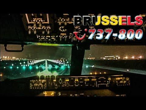 Night Takeoff in Cockpit Boeing 737-800 (2006)