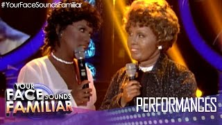 "Your Face Sounds Familiar: Kakai Bautista as Whitney Houston and Cissy Houston ""I Know Him So Well"""